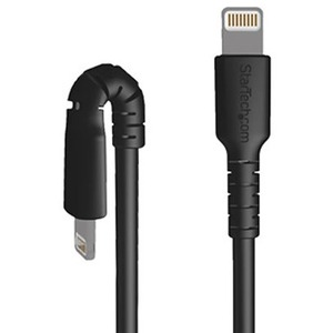 StarTech.com 3 foot/1m Durable Black USB-C to Lightning Cable, Rugged Heavy Duty Charging/Sync Cable for Apple iPhone/iPad
