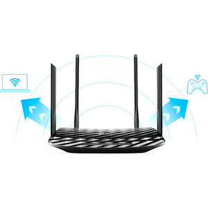 Router wireless TP-Link Archer A6 - Wi-Fi 5 - IEEE 802.11ac - Ethernet - 2,40 GHz ISM band - 5 GHz Banda UNII - 5 x Antenn