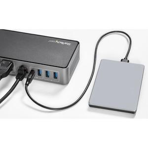 StarTech.com USB-C e USB-A Dock - Docking station triplo monitor DisplayPort e HDMI 4K 60Hz - 85W Power Delivery, Hub 6x U