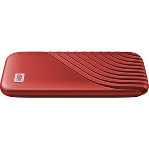 WD My Passport WDBAGF0010BRD-WESN 1 TB Portable Solid State Drive - External - Red - USB 3.2 (Gen 2) Type C - 256-bit Encr