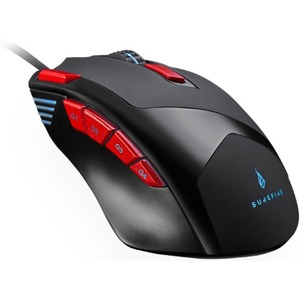 SUREFIRE Eagle Claw Gaming Mouse - USB 2.0, USB 3.2 (Gen 1) - 9 Button(s) - 9 Programmable Button(s) - Cable - 3200 dpi -