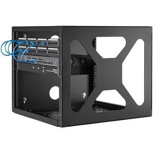 StarTech.com 8U Sideways Wall-Mount Rack for Servers - Side-Mount Server Rack for Easy Access - 159.39 kg Maximum Weight C