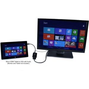 StarTech.com Adattatore convertitore Micro HDMI a VGA con audio per smartphone/ultrabook/tablet - 1920x1200 - Estremità 1: