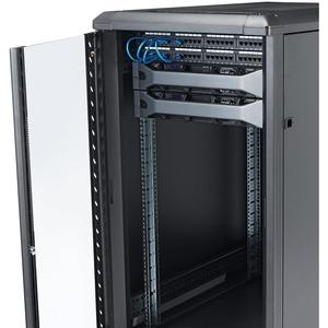 StarTech.com 22U Server Rack Cabinet on Wheels - 36 inch Adjustable Depth - Portable Network Equipment Enclosure (RK2236BK