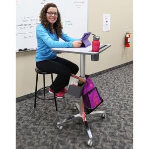 Ergotron LearnFit Student Desk - High Pressure Laminate (HPL) Rectangle Top - Melamine Base - 609.60 mm Table Top Length x