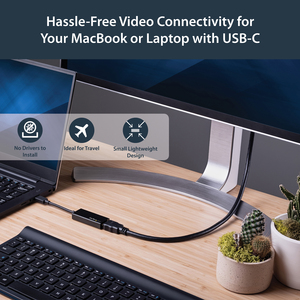 StarTech.com USB C to HDMI Adapter - Thunderbolt 3 Compatible - USB-C Adapter - USB Type C to HDMI Dongle Converter - Firs