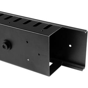 StarTech.com Pannello Gestione Cavi Orizzontale per Armadi Rack 40U - Sistema gestione Passacavi con ganci - 20U Altezza -