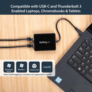 Adaptador de Red USB-C con Dos Puertos Ethernet Gigabit y Puerto Adicional USB (Type-A) StarTech.com US1GC301AU2R