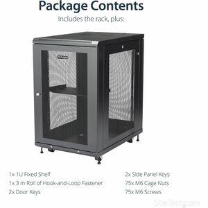 StarTech.com Server Rack Cabinet - 18U - 79cm Deep Enclosure - Network Cabinet - Rack Enclosure Server Cabinet - Data Cabi