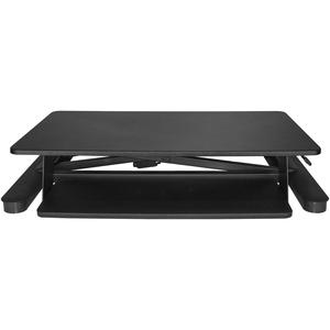 "StarTech.com Sit Stand Desk Converter - With 35"" Work Surface - Height Adjustable Standing Desk Converter - Stand Up Desk"