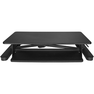 "StarTech.com Sit Stand Desk Converter - With 35"" Work Surface - Height Adjustable Standing Desk Converter - Stand Up Desk"