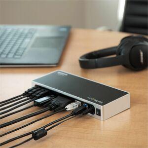 StarTech.com USB 3.0 Docking Station - Dual Monitor Laptop Dock with HDMI & DVI/VGA - 6x USB Type-A Hub, GbE - Universal W