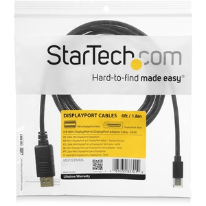 StarTech.com 1.83 m DisplayPort/Mini DisplayPort A/V Cable for Audio/Video Device, Notebook, TV, Monitor, Projector, HDTV,