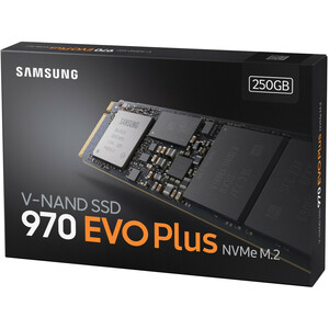 Samsung 970 EVO Plus 250 GB Solid State Drive - M.2 2280 Internal - PCI Express (PCI Express 3.0 x4) - 150 TB TBW - 3500 M