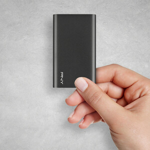PNY Elite 960 GB Portable Solid State Drive - External - Brushed Silver - USB 3.1 (Gen 1) - 420 MB/s Maximum Read Transfer