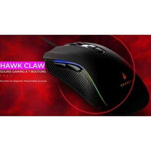SUREFIRE Hawk Claw Gaming Mouse - USB 2.0, USB 3.2 (Gen 1) - 7 Button(s) - 7 Programmable Button(s) - Cable - 6400 dpi - R