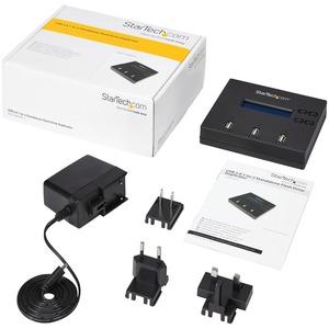 StarTech.com 1:2 Standalone USB 2.0 Flash Drive Duplicator and Eraser - USB Stick Duplicator - Flash Drive Copier - USB Fl
