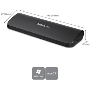 StarTech.com USB 3.0 Docking Station - Dual Monitor HDMI / DVI / VGA - Ethernet - Audio - Universal Docking Station - USB