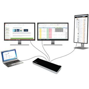 Docking Station USB 3.0 para Tres Pantallas - 1x HDMI - 2x DisplayPort