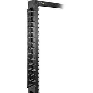 StarTech.com Pannelo Gestione Cavi Verticale per Server Rack con Gancio a D - 0 U - Per server rack da 40U - 2x 1.8m - 40U