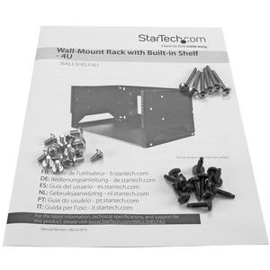 StarTech.com Armario Rack de Montaje en Pared con Estante Incorporado - de Acero - 4U - con Profundidad Ajustable de 12 y
