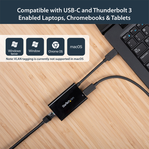 StarTech.com USB C to Gigabit Ethernet Adapter - with Power Delivery (USB PD) - Power Pass Through Charging - USC-C Ethern