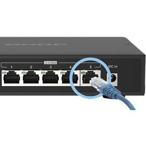 Switch Ethernet QNAP QSW-1105-5T 5 Porte - 2 Layer supportato - Coppia incrociata - Desktop