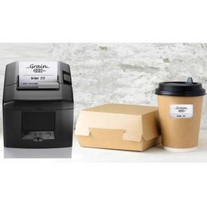 "Star Micronics TSP654IISK GRY E+U Desktop Direct Thermal Printer - Monochrome - Label/Receipt Print - 72 mm (2.83"") Print"