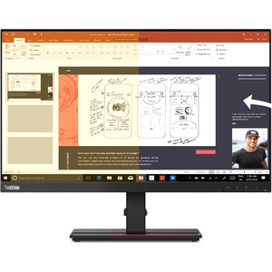 "Lenovo ThinkVision P24h-2L 60.5 cm (23.8"") WQHD WLED LCD Monitor - 16:9 - Raven Black - 609.60 mm Class - In-plane Switchi"