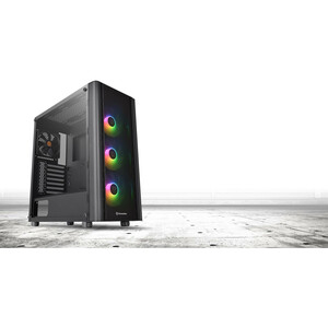 Thermaltake V250 TG ARGB Computer Case - ATX, Micro ATX, Mini ITX Motherboard Supported - Mid-tower - SPCC, Tempered Glass