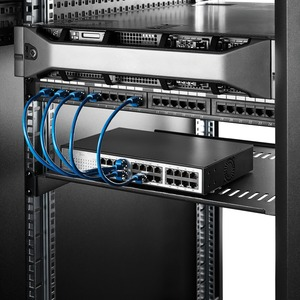 "StarTech.com 1U Rack Shelf - 16"" Deep - Steel - Vented Rack Shelf - Rack Mount Shelf - Server Rack Shelf - Cantilever Shel"