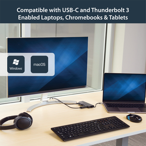 StarTech.com USB-C Multiport Adapter - 2 x USB 3.0 / HDMI / SD / Gigabit Ethernet - with Power Delivery (USB PD) - USB C D