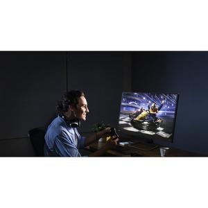 """Monitor LCD da gaming BenQ EX2780Q 68,6 cm (27"""") WQHD LED - 16:9 - Grigio metallizzato - 685,80 mm Class - Tecnologia In-p"""