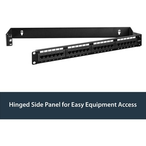 """StarTech.com 1U Hinged Wall Mount Patch Panel Bracket - 4 inch Deep - 19"""" Patch Panel Swing Rack for Shallow Network Equip"""