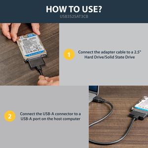 """StarTech.com USB 3.0 to 2.5"""" SATA III Hard Drive Adapter Cable w/ UASP - SATA to USB 3.0 Converter for SSD/HDD - Hard Driv"""