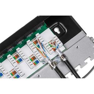 Quadro per prese di rete TRENDnet TC-P08C6AS - 8 Port(s) - 8 x RJ-45 - 0.5U Alto - Parato montabile