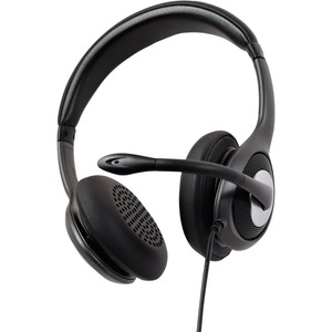 V7 Deluxe HU530C Wired Over-the-head Stereo Headset - Black, Grey - Circumaural - 32 Ohm - 20 Hz to 20 kHz - Noise Cancell