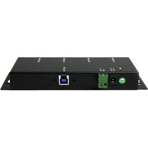 StarTech.com Mountable USB 3.0 hub - Industrial - Rugged - Black Metal - Bus Powered - USB 3 Hub - USB Extender - Powered