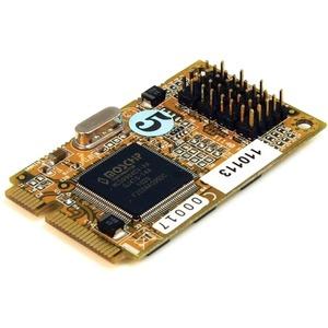 StarTech.com 4 Port RS232 Mini PCI Express Serial Card w/ 16650 - Mini PCI Express - 4 x DB-9 RS-232 - Serial - 7.20 Mbit/