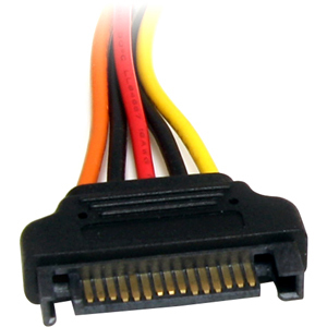 StarTech.com 8in 15 pin SATA Power Extension Cable - For Disk Drive - SATA / SATA - 1 Pcs