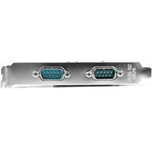 StarTech.com 2 Port PCIe Serial Adapter Card with 16550 - PCI Express - PC, Mac, Linux - 2 x Number of Serial Ports External