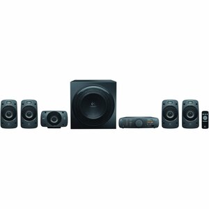 Sistema de Altavoces Logitech Z906 5.1 - 500W RMS - Negro - Montaje en pared - DTS, Dolby Digital