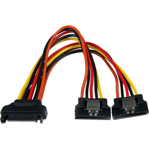 StarTech.com 15cm Latching SATA Power Y Splitter Cable Adapter - M/F - 6 inch Serial ATA Power Cable Splitter - SATA Power