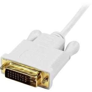 StarTech.com Cable de 1,8m Adaptador Activo de Vídeo Externo Mini DisplayPort a DVI - 1920x1200 - Blanco - Extremo prinicp