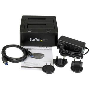 """StarTech.com Docking Station USB 3.0 per doppio Hard Disk SSD / SATA da 2.5"""" / 3.5"""" con UASP - 2 x Disco rigido supportato"""