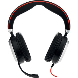 Jabra EVOLVE 80 Wired Over-the-head Stereo Headset - Binaural - Circumaural - Noise Cancelling Microphone - USB, Mini-phon