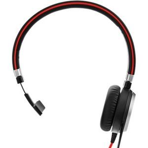 Jabra EVOLVE 40 Wired Over-the-head Mono Headset - Monaural - Supra-aural - Noise Cancelling Microphone - USB, Mini-phone