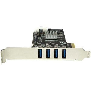 StarTech.com USB Adapter - PCI Express x4 - Plug-in Card - UASP Support - 4 Total USB Port(s) - 4 USB 3.0 Port(s) - PC, Linux