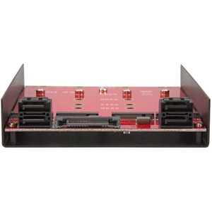 """StarTech.com 4x M.2 SATA mounting adapter for 3.5in drive bay - mount four M.2 NGFF SATA-based SSDs into one 3.5"""" drive bay"""