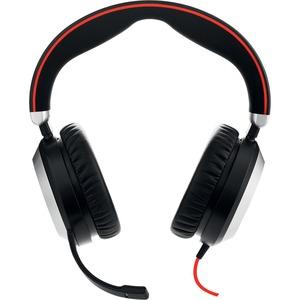 Cuffie Jabra EVOLVE 80 Cavo Over-the-head Stereo - Binaural - Circumaurale - Cancellazione del rumore Microfono - USB, Min